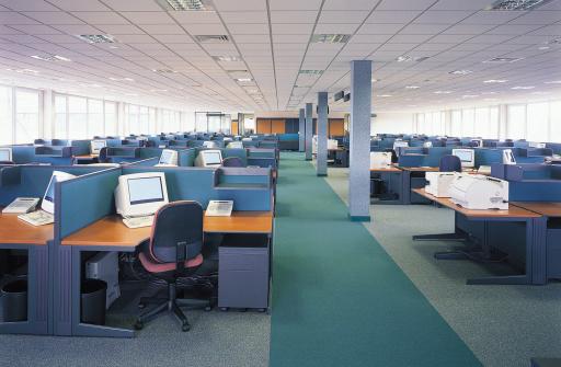Open Plan「Community of desks in office」:スマホ壁紙(14)