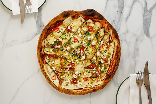 Garlic Clove「Italian Food - Zucchini Vegetarian Pizza」:スマホ壁紙(12)