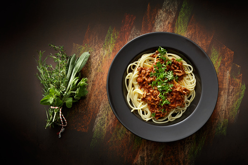 Course - Meal「Italian Food: Spaghetti Bolognese Still Life」:スマホ壁紙(16)