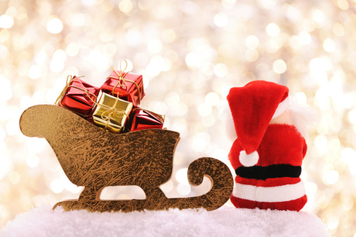 Sled「Santa sitting near his sleigh」:スマホ壁紙(4)