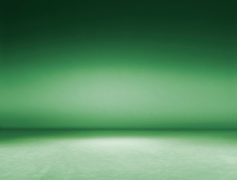 Green Background「Empty Photography Studio.」:スマホ壁紙(1)