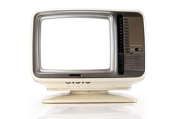 Retro TV With Clipping Path:スマホ壁紙(壁紙.com)
