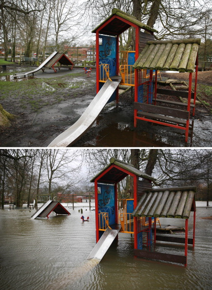 Composite Image「Flood Water Levels Drop Dramatically In Some Areas Around The Thames」:写真・画像(4)[壁紙.com]