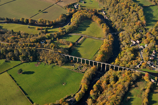 Patchwork Landscape「Pontcysyllte Aqueduct from the air」:スマホ壁紙(12)
