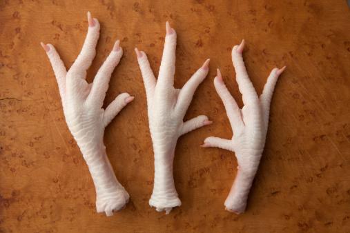 Ugliness「Raw chicken feet on a cutting board」:スマホ壁紙(17)