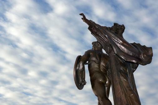 Charleston - South Carolina「Civil War statue at Battery Park in Charleston, South Carolina」:スマホ壁紙(0)