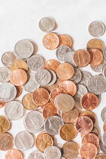 米国硬貨「Pile of assorted US coins」:スマホ壁紙(15)