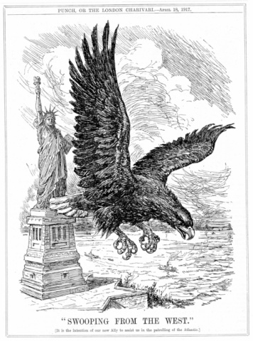 Cartoon「American eagle and Statue of Liberty」:スマホ壁紙(8)