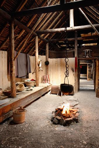Log Cabin「Inside Of Norse Buildings Newfoundland, Canada」:スマホ壁紙(16)