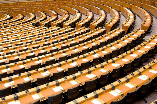 Politics「Empty Assembly Room Seat of European Parliament Brussels」:スマホ壁紙(19)