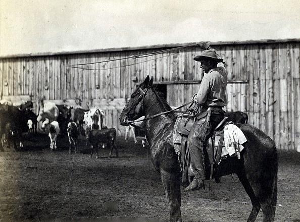 Horseback Riding「William Henry Jackson 'In The Corral. The Lariat'」:写真・画像(8)[壁紙.com]