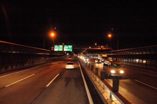 京都の夜「Highway at night , Kyoto Prefecture, Japan」:スマホ壁紙(3)
