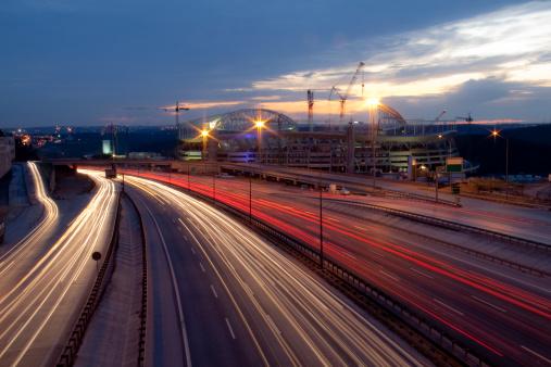 Multiple Exposure「Highway at night Istanbul,Turkey」:スマホ壁紙(3)