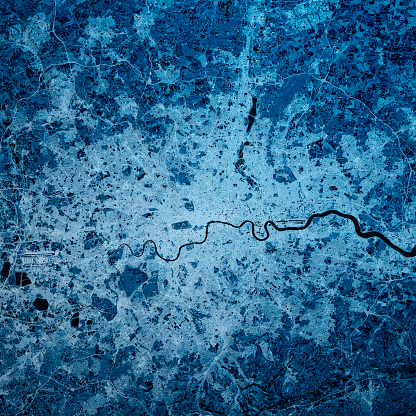 Topography「London England 3D Render Blue Top View Feb 2019」:スマホ壁紙(9)
