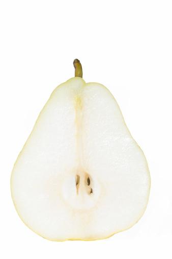 白梨「Pear slice, isolated on white」:スマホ壁紙(12)