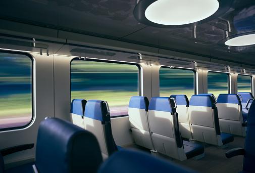 Railway「Traveling at high speed by modern intercity train」:スマホ壁紙(19)