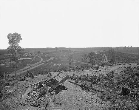 19th Century「Battlefield of Resaca, Georgia, during the American Civil War.」:スマホ壁紙(3)
