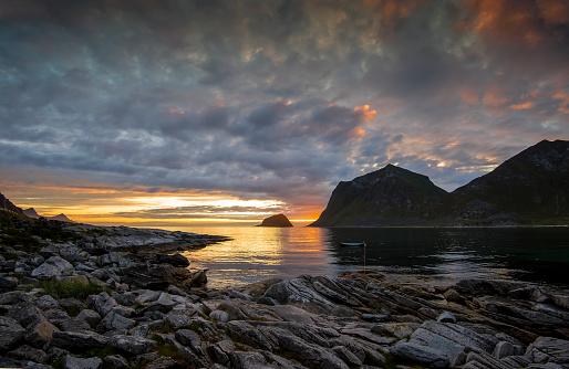 ノルウェー「Norway, Lofoten, idyllic seascape」:スマホ壁紙(16)