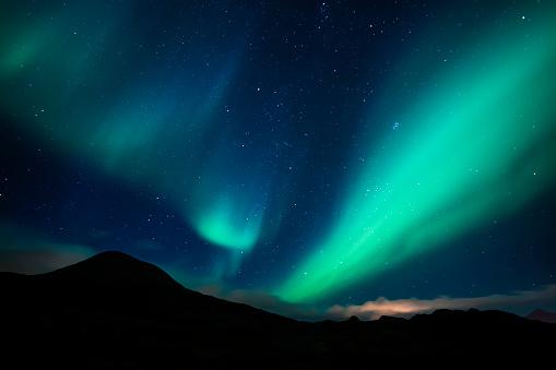 Fantasy「Norway, Lofoten Islands, Haukland Beach, northern lights」:スマホ壁紙(4)