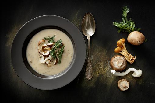 フランス料理「Soups: Mushroom Soup Still Life」:スマホ壁紙(12)