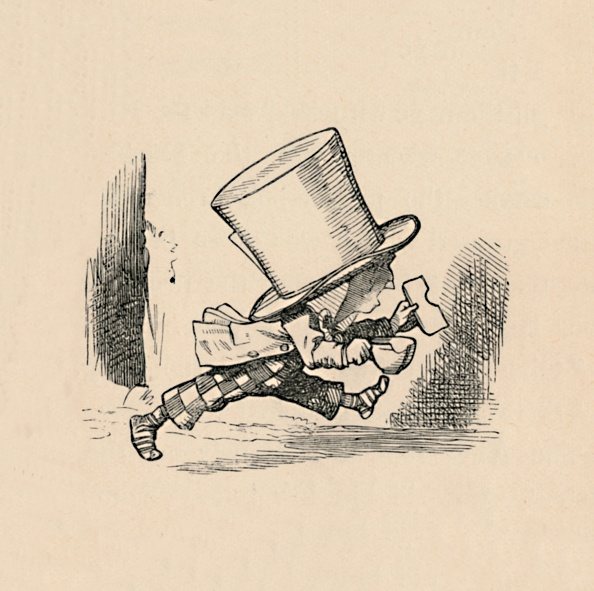 Engraving「The Mad Hatter, In The Chapter The Tarts, 1889」:写真・画像(10)[壁紙.com]