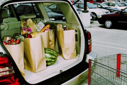 スイカ「Groceries in back of car, parked in parking lot (Cross Processed)」:スマホ壁紙(9)