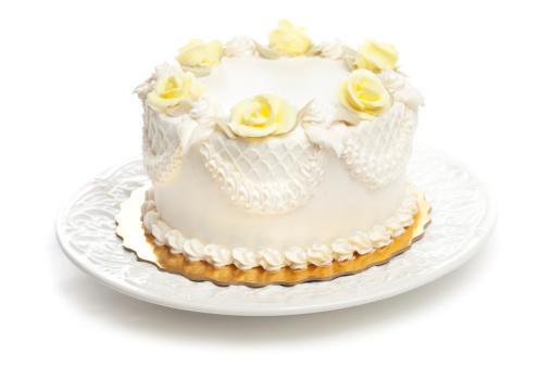 アイシング「伝統的なケーキのアイシング、イエロー、ホワイトローズ装飾 Hz」:スマホ壁紙(4)