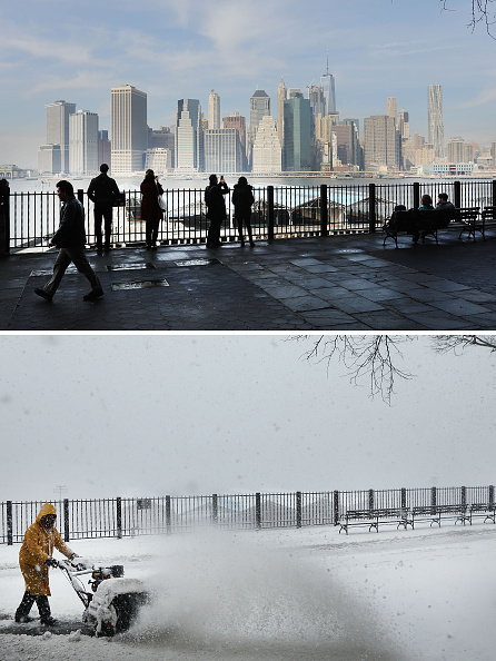 風景(季節別)「From Balmy To Snow Storm: Extreme 48-Hour Weather Swing In New York City」:写真・画像(2)[壁紙.com]