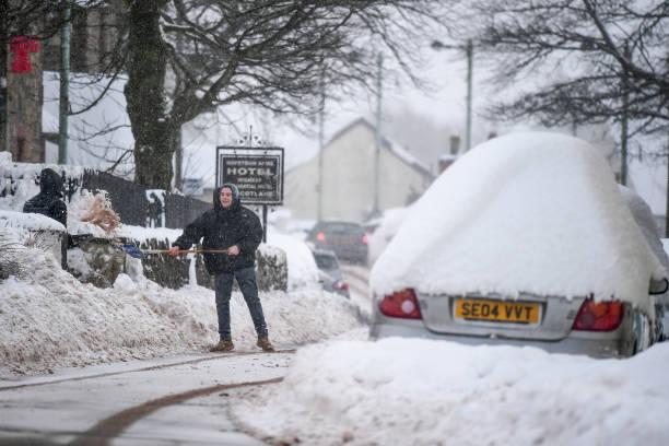 雪「Storm Fionn Brings Chaos To The UK」:写真・画像(1)[壁紙.com]
