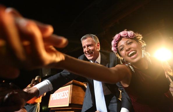 Mario Tama「NYC Mayoral Candidate Bill De Blasio Hosts Primary Night Party In Brooklyn」:写真・画像(8)[壁紙.com]