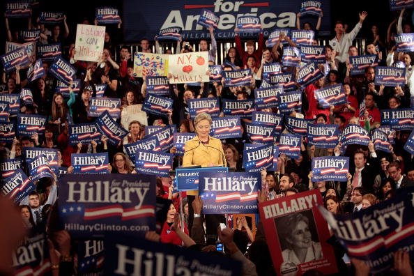 Super Tuesday「Hillary Clinton Hosts Super Tuesday Primary Night Event In NYC」:写真・画像(5)[壁紙.com]