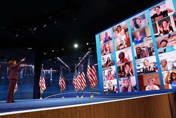 Democratic National Convention「Vice Presidential Nominee Kamala Harris Addresses Virtual DNC From Delaware」:写真・画像(2)[壁紙.com]