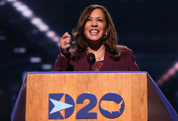 Democratic National Convention「Vice Presidential Nominee Kamala Harris Addresses Virtual DNC From Delaware」:写真・画像(9)[壁紙.com]