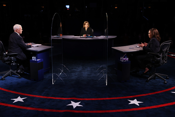 Vice President「Mike Pence And Kamala Harris Take Part In Vice Presidential Debate」:写真・画像(8)[壁紙.com]