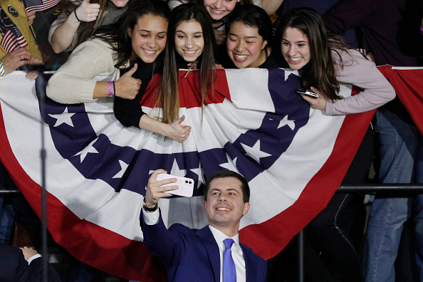 Primary Election「Pete Buttigieg Holds Watch Party Event On Night Of Iowa Caucus」:写真・画像(16)[壁紙.com]