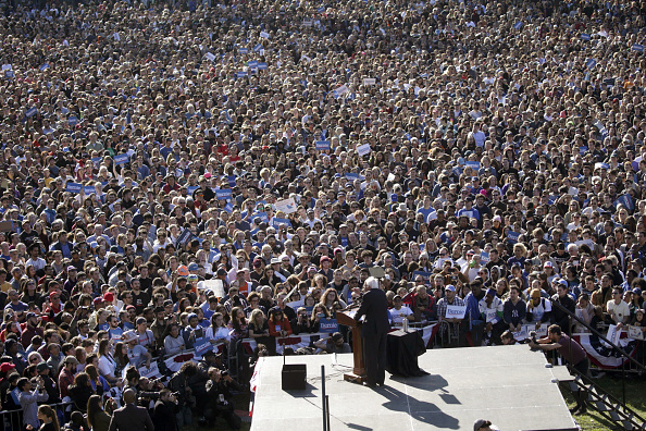 Queens - New York City「Bernie Sanders Returns To The Campaign Trail With A Rally In New York City」:写真・画像(11)[壁紙.com]