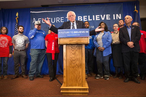 Super Tuesday「Bernie Sanders Holds Press Conference In Michigan Condemning US Trade Deals」:写真・画像(17)[壁紙.com]