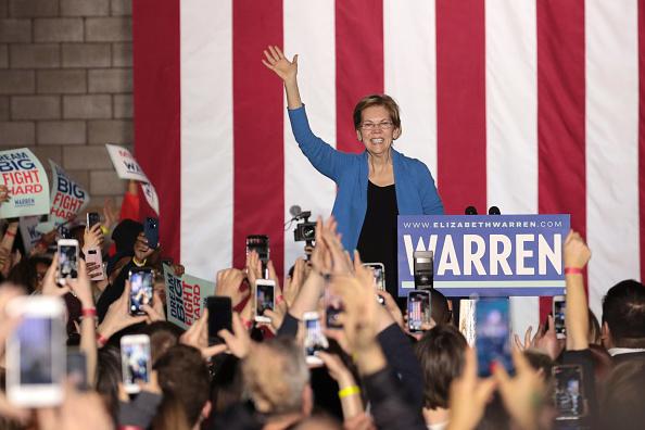 Super Tuesday「Democratic Presidential Candidate Elizabeth Warren Holds Super Tuesday Night Event In Detroit」:写真・画像(10)[壁紙.com]