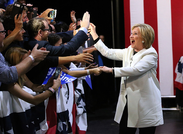 Super Tuesday「Hillary Clinton Holds Super Tuesday Night Event In Miami」:写真・画像(7)[壁紙.com]