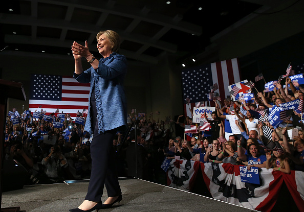 Florida - US State「Democratic Presidential Candidate Hillary Clinton Holds Primary Night Event In Florida」:写真・画像(7)[壁紙.com]