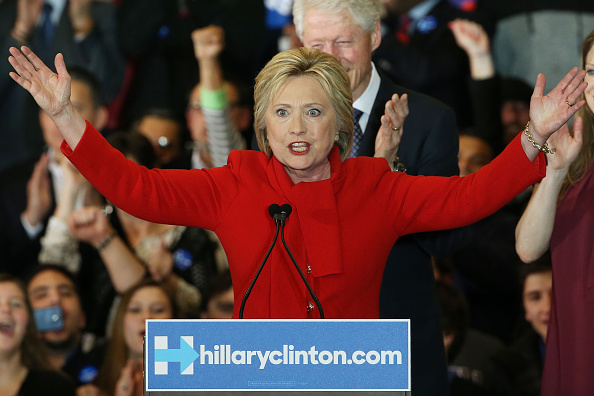 2016 United States Presidential Election「Hillary Clinton Holds Iowa Caucus Night Gathering In Des Moines」:写真・画像(18)[壁紙.com]
