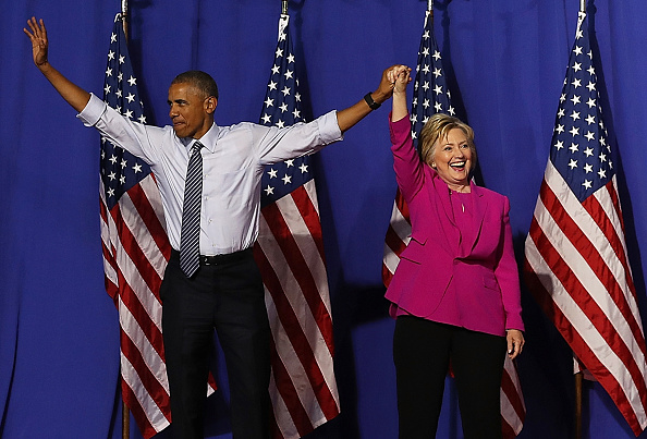 Secretary Of State「President Obama Campaigns With Hillary Clinton In Charlotte」:写真・画像(3)[壁紙.com]