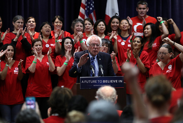 2016 United States Presidential Election「Bernie Sanders Holds Press Conference On Health Care In SF Bay Area」:写真・画像(16)[壁紙.com]