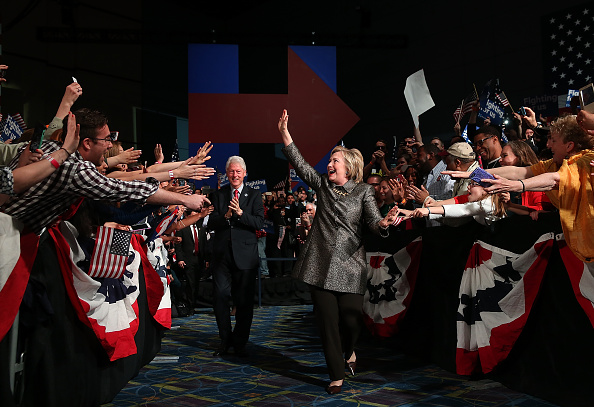 Justin Sullivan「Hillary Clinton Holds Pennsylvania Primary Night Event In Philadelphia」:写真・画像(12)[壁紙.com]