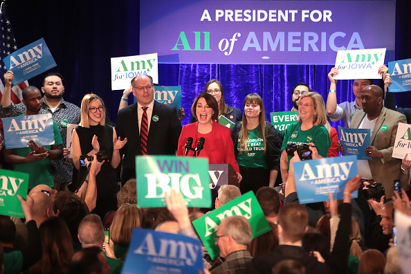 Husband「Sen. Amy Klobuchar Holds Iowa Caucus Night Watch Party」:写真・画像(13)[壁紙.com]