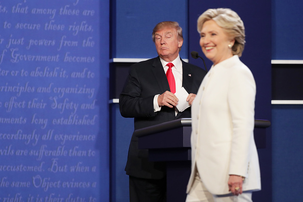 Presidential Candidate「Final Presidential Debate Between Hillary Clinton And Donald Trump Held In Las Vegas」:写真・画像(13)[壁紙.com]