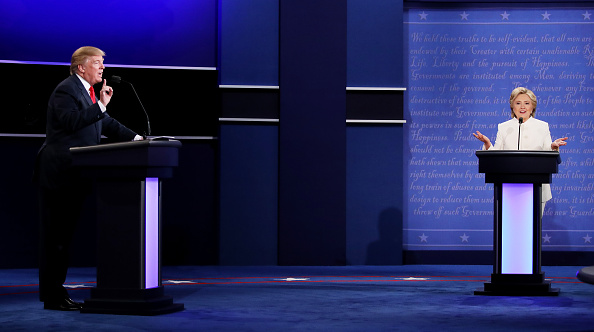 大統領選候補者討論会「Final Presidential Debate Between Hillary Clinton And Donald Trump Held In Las Vegas」:写真・画像(19)[壁紙.com]
