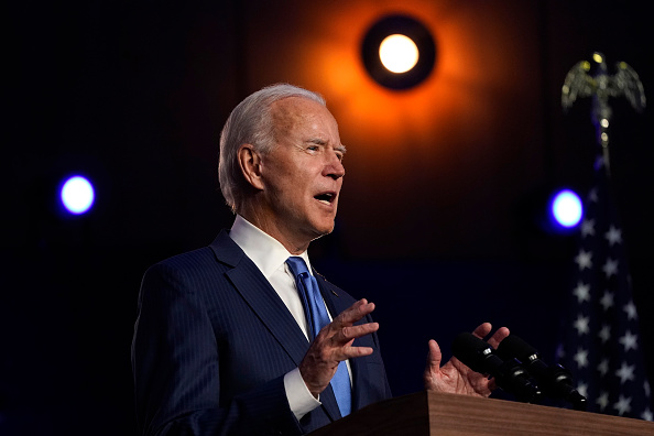 Speech「Democratic Presidential Nominee Joe Biden Addresses The Nation As Election Count Continues In Few Key States」:写真・画像(5)[壁紙.com]