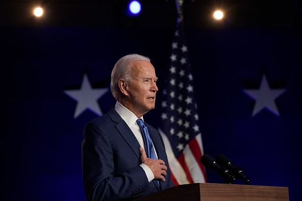 Speech「Democratic Presidential Nominee Joe Biden Addresses The Nation As Election Count Continues In Few Key States」:写真・画像(4)[壁紙.com]