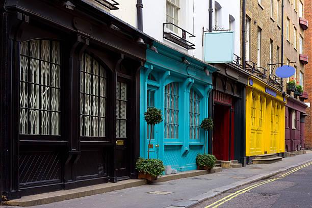 Old Store Fronts, London, England, UK:スマホ壁紙(壁紙.com)